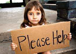 Child with Help Sign