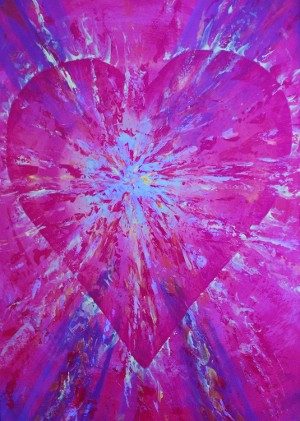 DJ Khamis Artwork - Hearts on Fire Blue and Purple