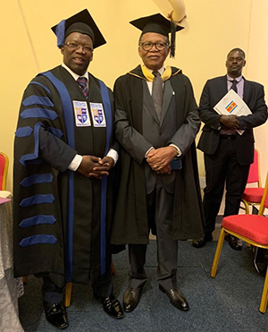 Themba and Dr. Benedict Xaba